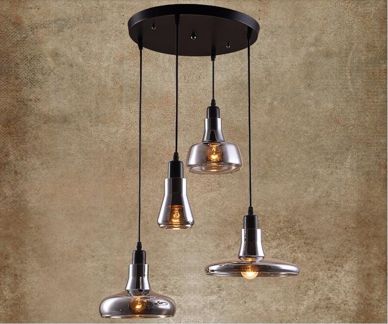 nuova retro loft vetro lampadari moderni da cucina