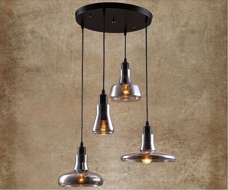 Nuova Retrò Loft Vetro Lampadari Moderni da Cucina Lampade Design ...