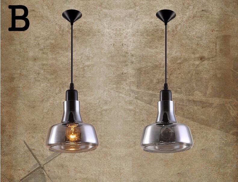 nuova retr loft vetro lampadari moderni da cucina lampade design sospensione