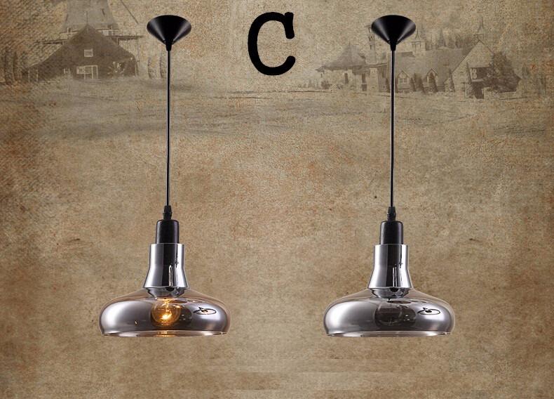 Nuova retr loft vetro lampadari moderni da cucina lampade - Lampade x cucina ...
