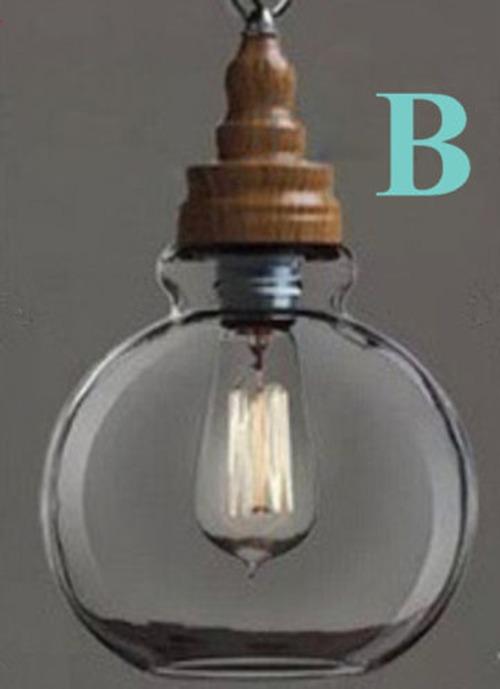 nuova industriale vetro lampadario camera da letto sospensione ... - Lampadario Sospensione Camera Da Letto