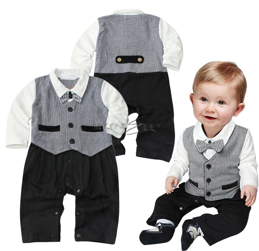 top body einteiler strampler anzug overall schlafanzug kinder baby weste smoking ebay. Black Bedroom Furniture Sets. Home Design Ideas
