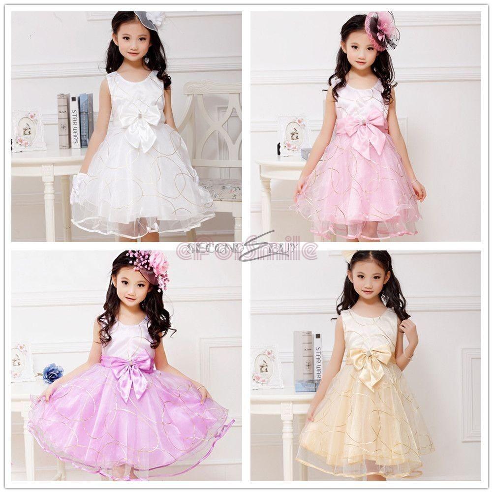NEU Mädchen Kinder Kleid Hochzeit Abendkleid Kommunionkleid ...
