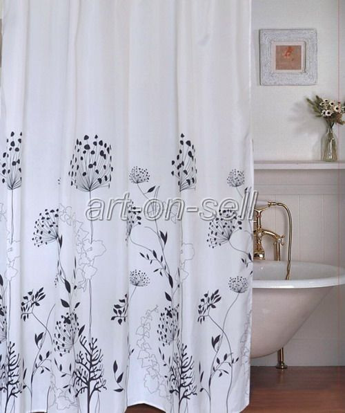 dandelion design bathroom fabric beautiful shower curtain