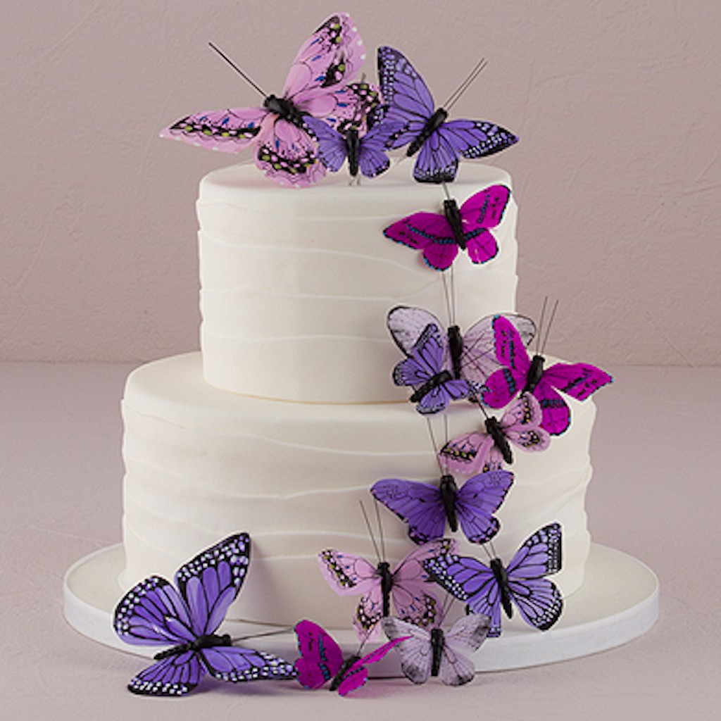 romantic butterfly hand painted for wedding cake topper decoration