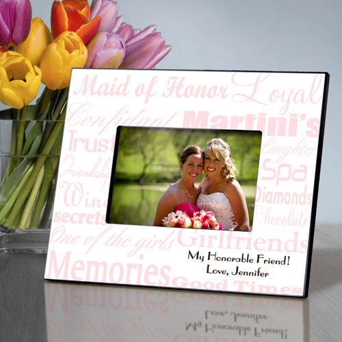 Maid of Honor Wedding in 7 Colors Personalized Picture Frame for 4x6 ...