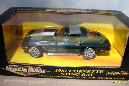 Corvette Stingray  on Vintage Ertl 1967 Chevrolet Corvette Stingray 427 1 18 Diecast   Ebay