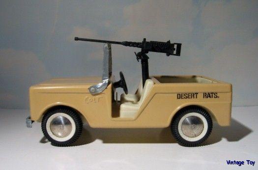 buddy l pressed steel desert rats colt rat patrol military jeep w gun ebay. Black Bedroom Furniture Sets. Home Design Ideas