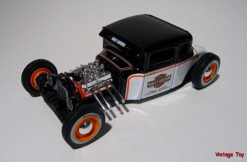 Harley Davidson Hot Rod Ford Maisto Diecast 1 24 Scale 1929 Rat Rod W