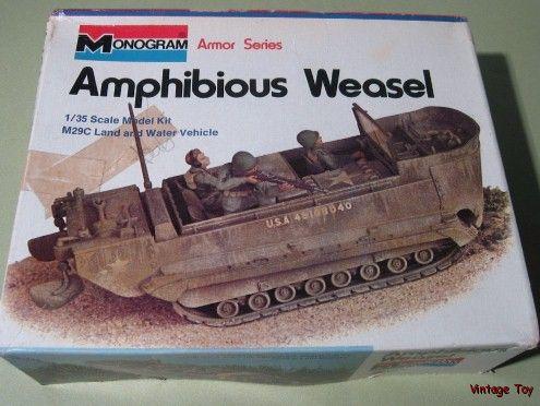 US Army WEASEL Amphibious Vehicle Mono. 135 model