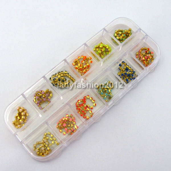 3d acrylic nail art decoration rhinestones beads chain for Acrylic nail decoration supplies