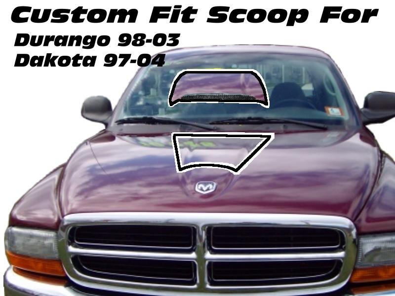 Dodge Durango 98 03 Amp Dakota 97 04 Custom Hood Scoop Ebay