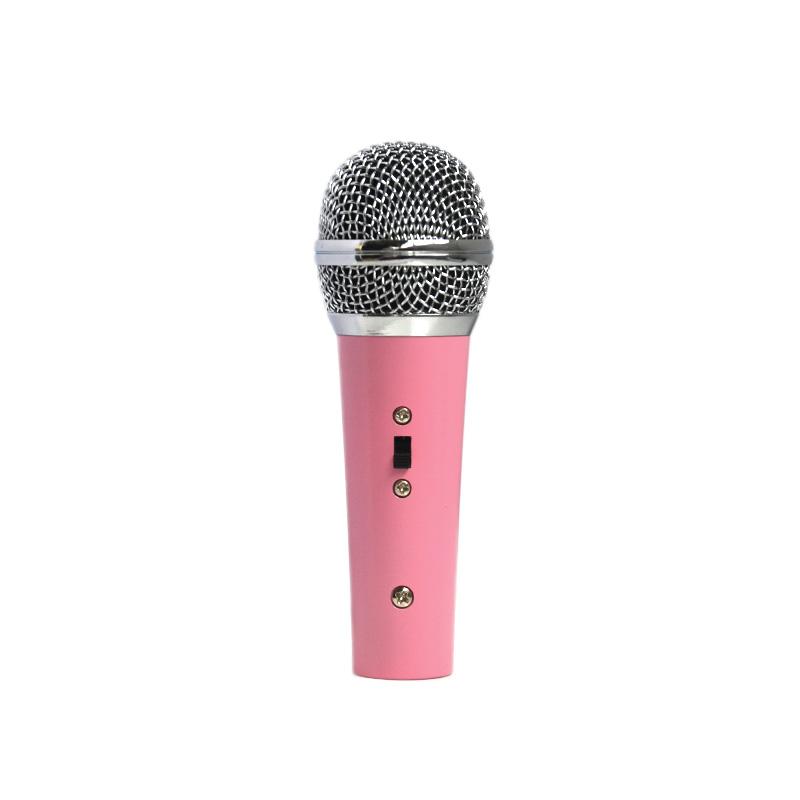 Mini Pink Dynamic Microphone Karaoke Singing For Children