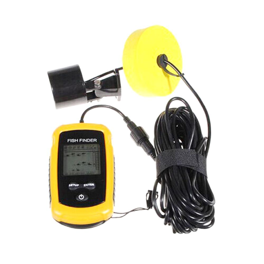 100m portable lcd fish finder alarm transducer sonar for Best portable fish finder
