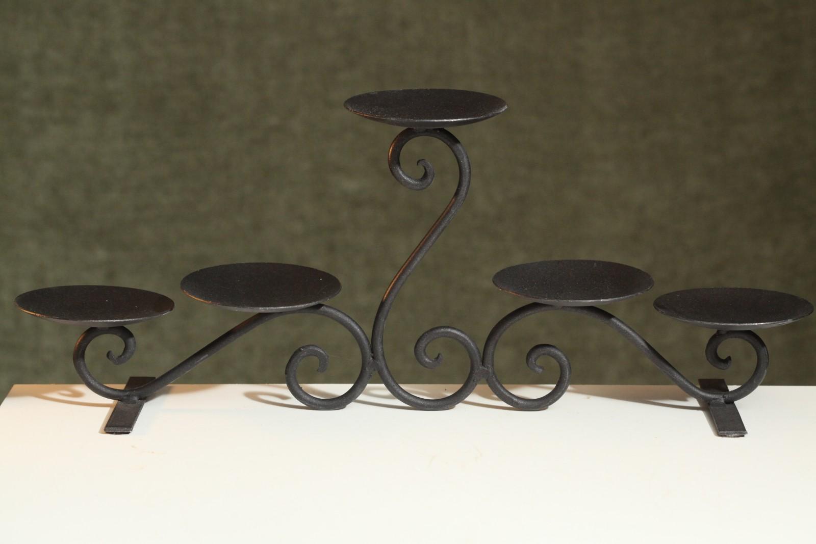 Metal Candelabra 5 Tier Candle Holder Living Room Fireplace Mantel Home Decor Ebay