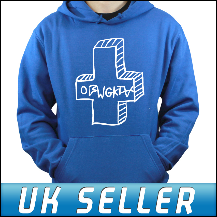 OFWGKTA Odd Future Cross Wolf Gang Blue Hoodie Hoody Sweater Tyler ...