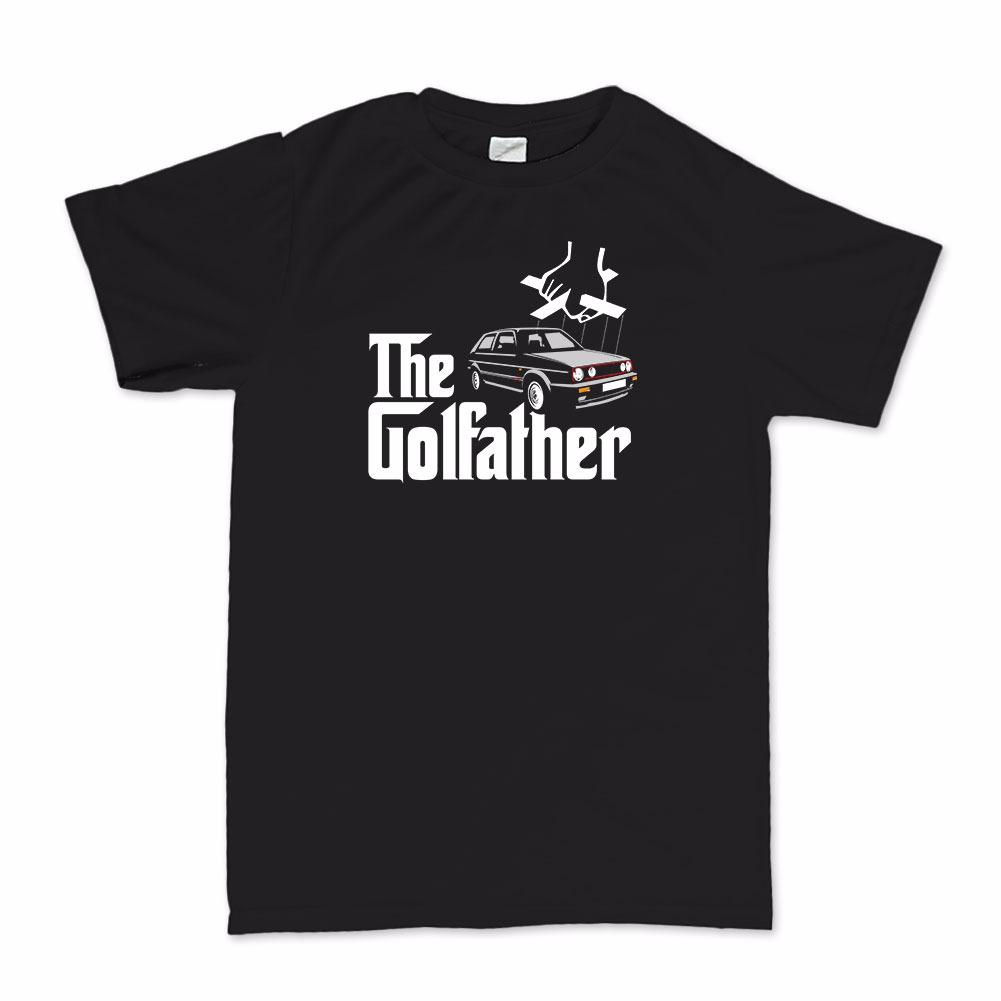 The golfather t shirt vw golf gti mk1 mk2 mk3 mk4 mk5 for Golf t shirts for sale