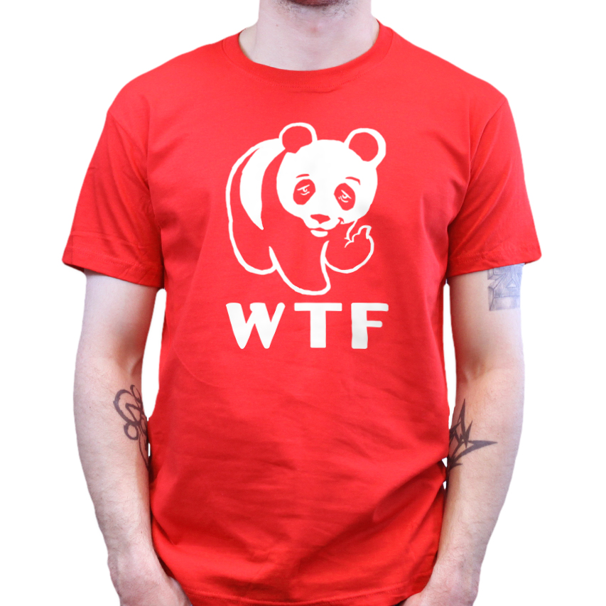 Related pictures details about wwf wtf banksy panda art canvas t shirt