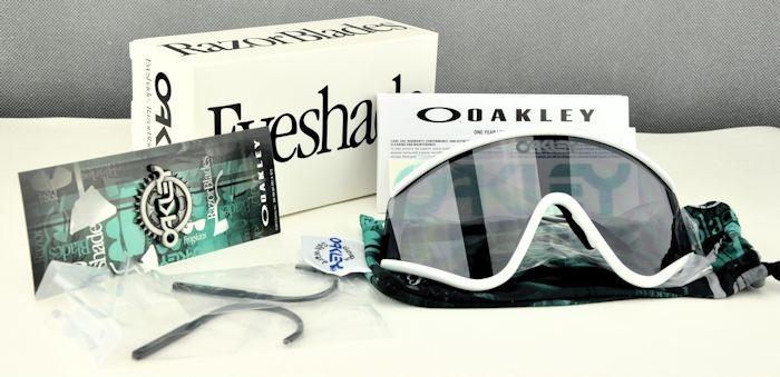clear frame oakley sunglasses  sunglasses white gray