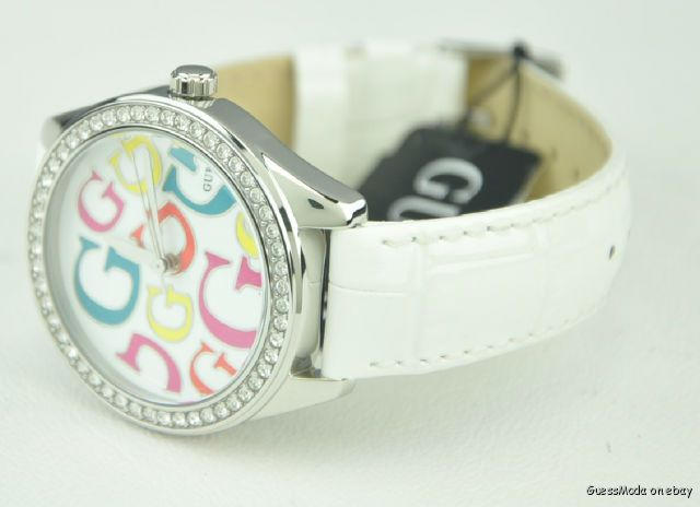 New Guess Ladies Watch White Leather W65008L1 BNWT USA