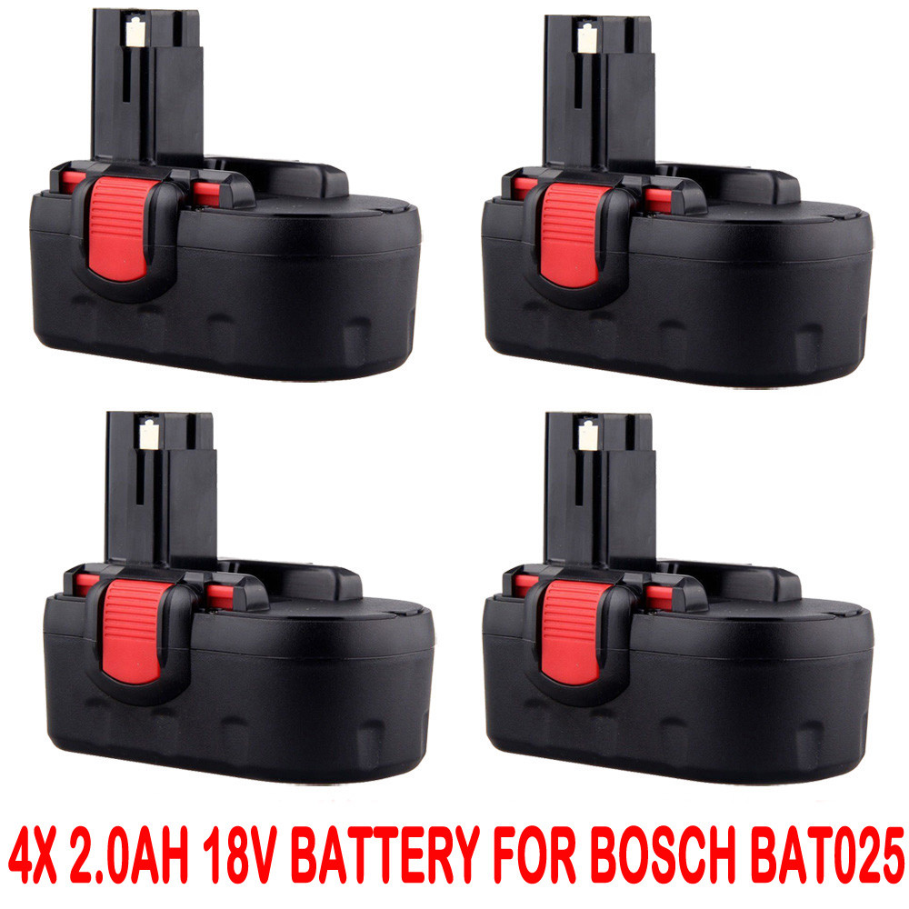 4x 2 0ah 18v battery for bosch bat025 bat160 2607335536 2607335278 psr 18ve ebay. Black Bedroom Furniture Sets. Home Design Ideas
