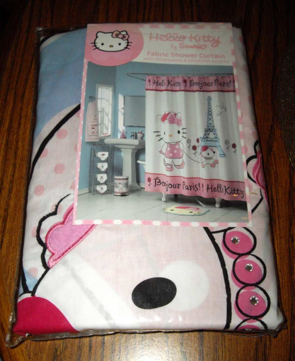 Hello Kitty Shower Curtain Bath Walmartcom Party Invitations Ideas