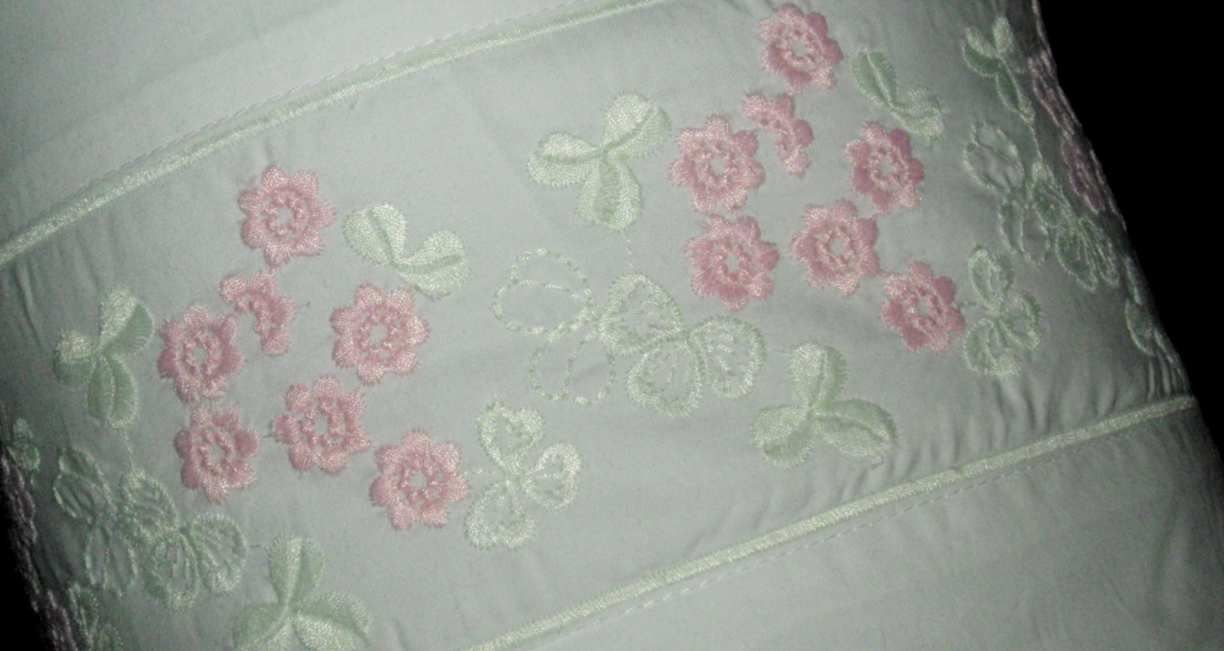 Simply Shabby Chic Pillows : Rachel Ashwell Simply SHABBY CHIC PILLOW-Bolster Neckroll Pink Green Flowers NEW