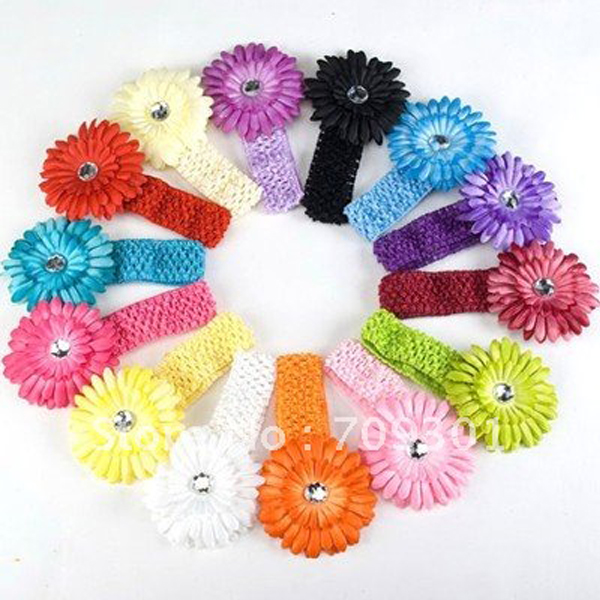 Baby-Girl-Crochet-Headband-Hair-Band-with-Daisy-Flower-14-colors