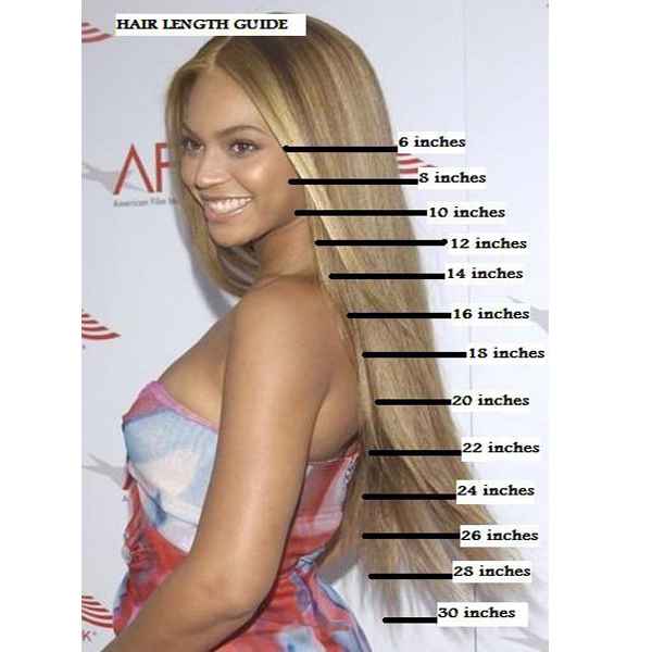 Clip In Hair Extensions Length Chart Indian Remy Hair