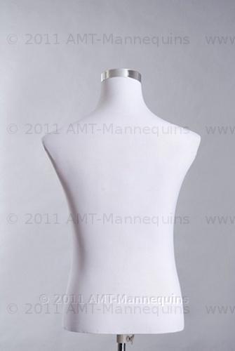 Male Mannequin Torso Pinnable Dress Form Adjustable Metal Stand Torso