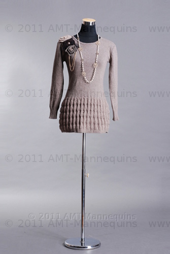 AMT Mannequin Torso Dress Form Female Black Fabric