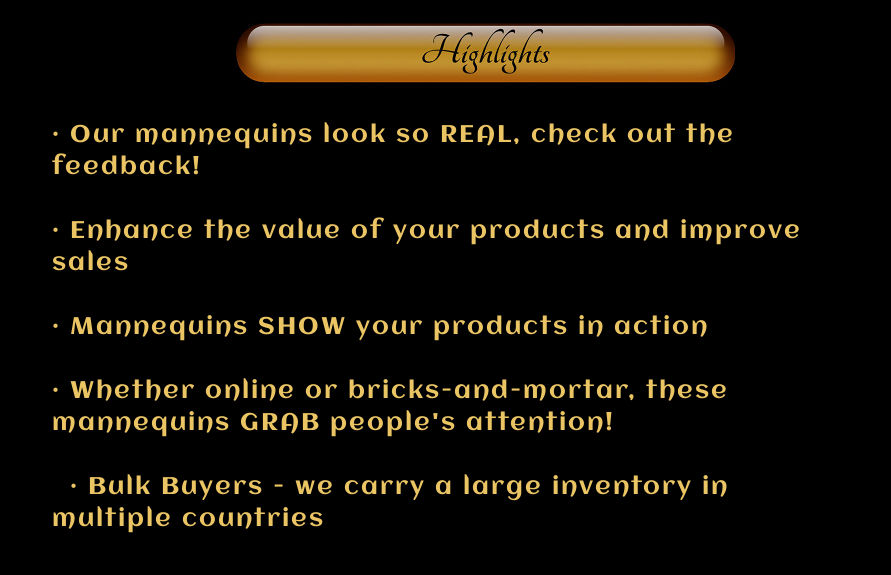 Mannequin maniken mankin manequin product highlights
