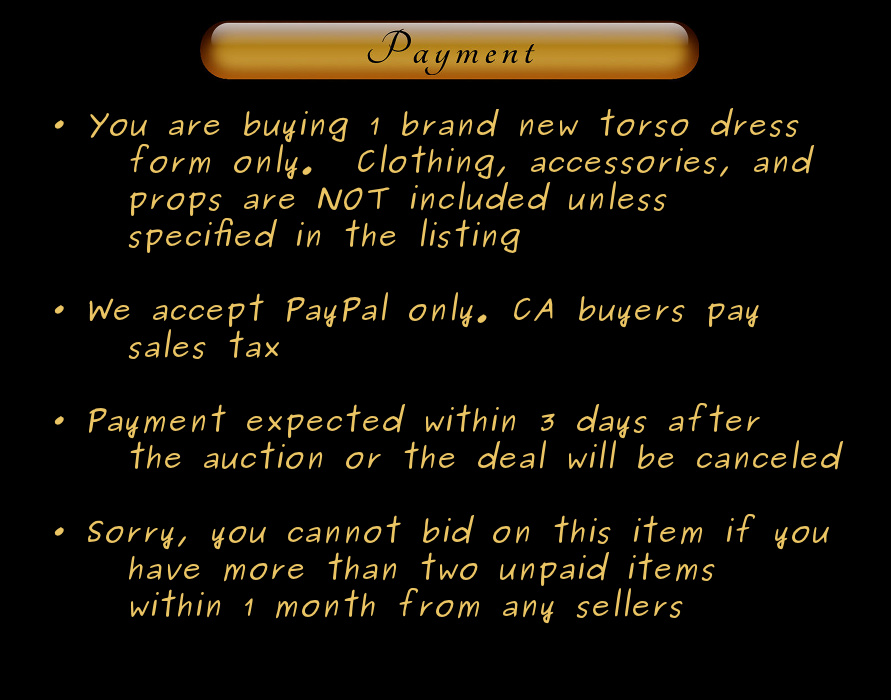 Mannequin maniken mankin manequin payment terms