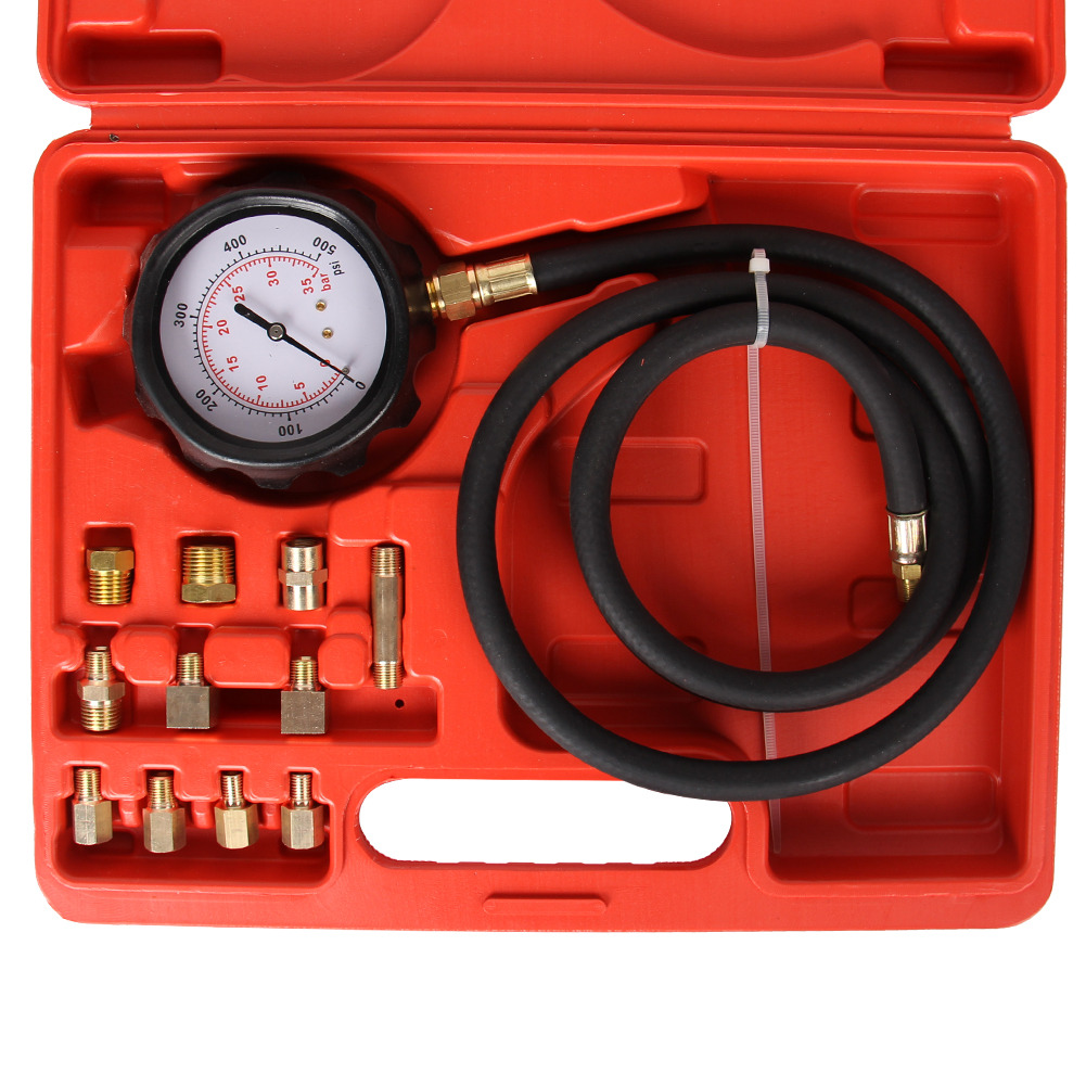 Auto Engine Gauges : Auto engine oil pressure tester gauge diagnostic test tool