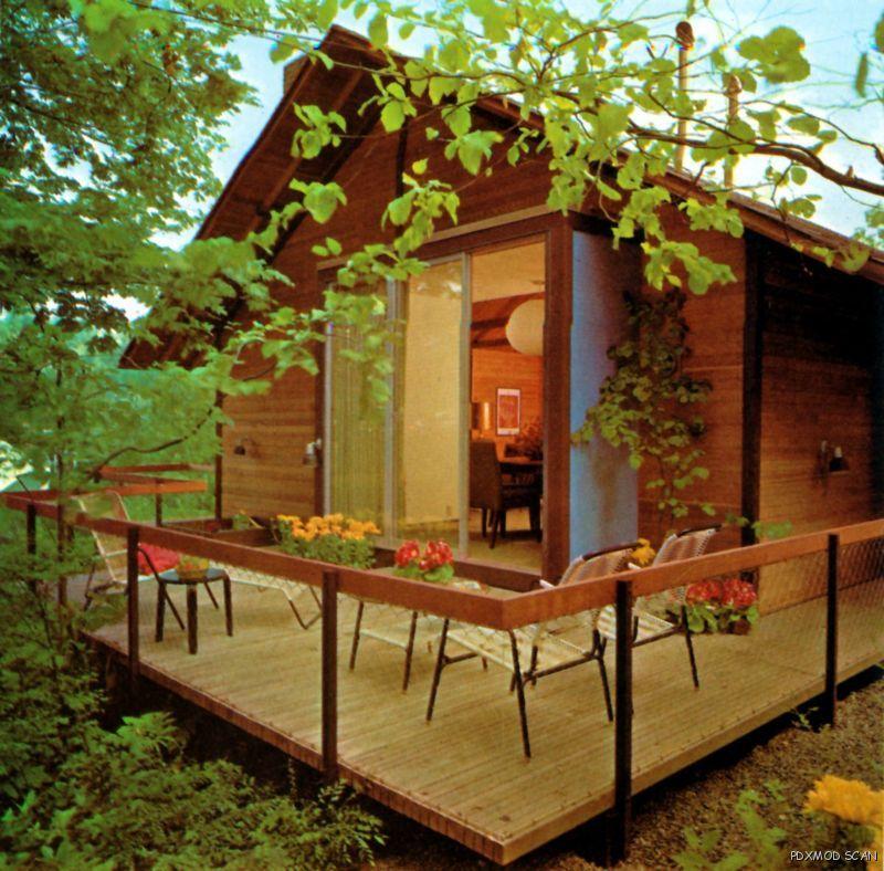 GARDEN IDEAS Vintage Mid Century Modern Retro Landscape Design Ideas