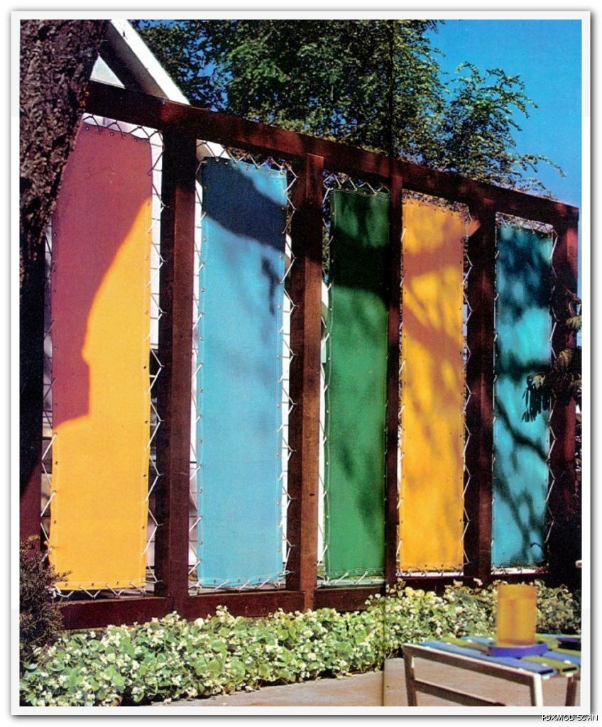 Privacy walls fabric panels and fencing on pinterest for Canvas privacy screen outdoor