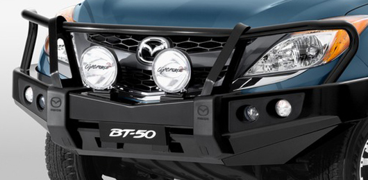 Mazda-BT50-Steel-Bullbar-Bull-Bar-Black-Genuine-UP11ACBBS-Clearance