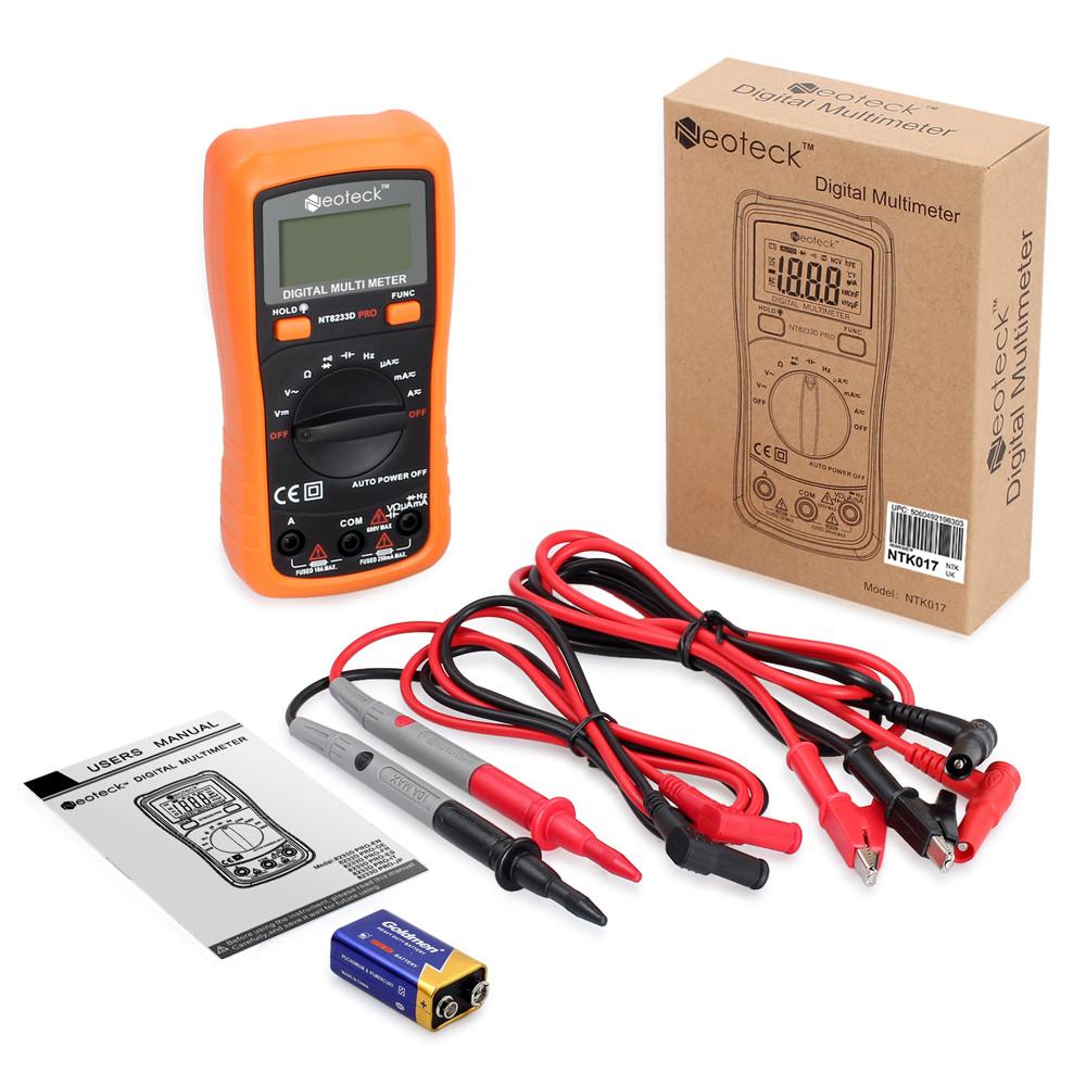 Neoteck Pocket Digital Multimeter 8233D PRO 2000 Counts Auto Ranging Digital