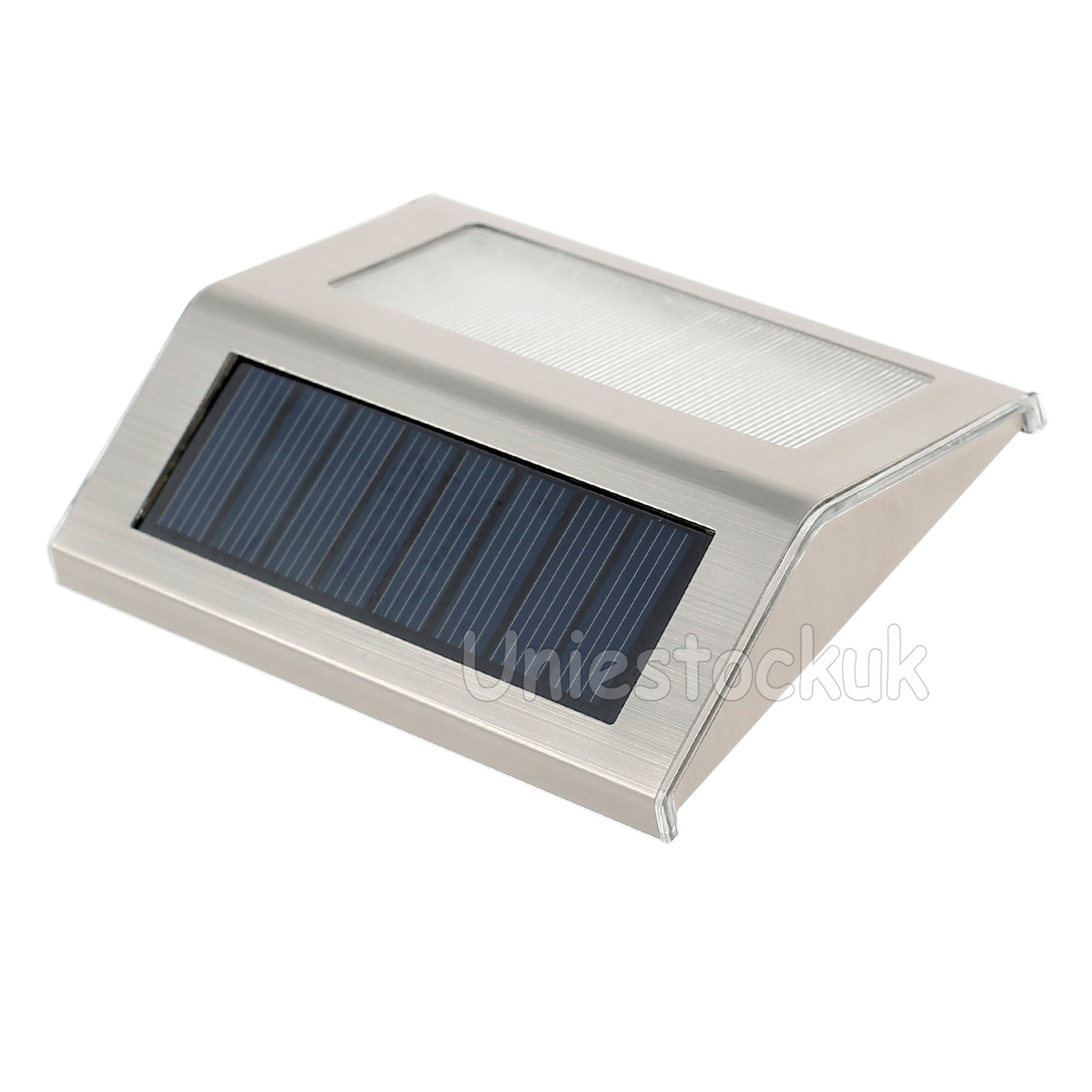 4 x 3led solar power stair lights outdoor garden pathway step decking wall lamp ebay - Solar deck lights for steps ...