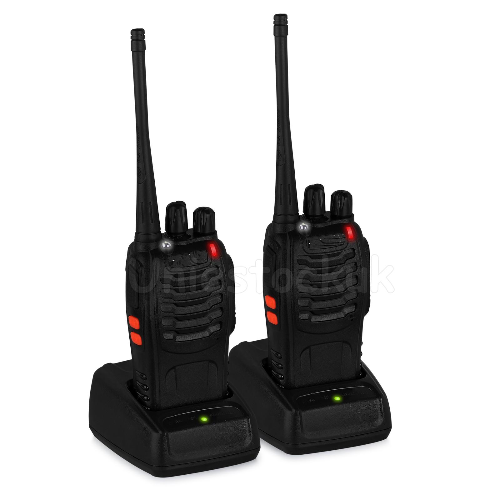 2xbaofeng bf 888s uhf 400 470mhz two way radio range walkie talkie earpiece 760352112133 ebay