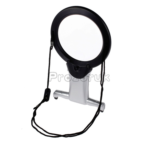 giant large hands free magnifying glass with light led magnifier. Black Bedroom Furniture Sets. Home Design Ideas