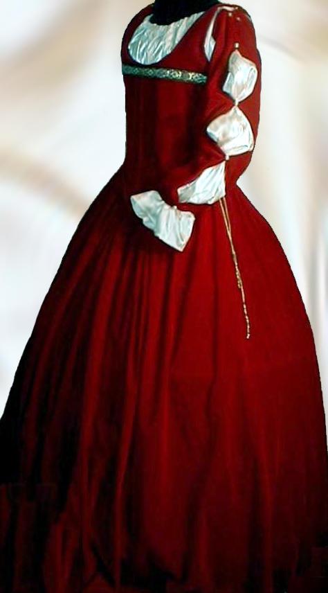 4 pc Renaissance Velvet Dress Costume Clothes Bodice Skirt Chemise ...