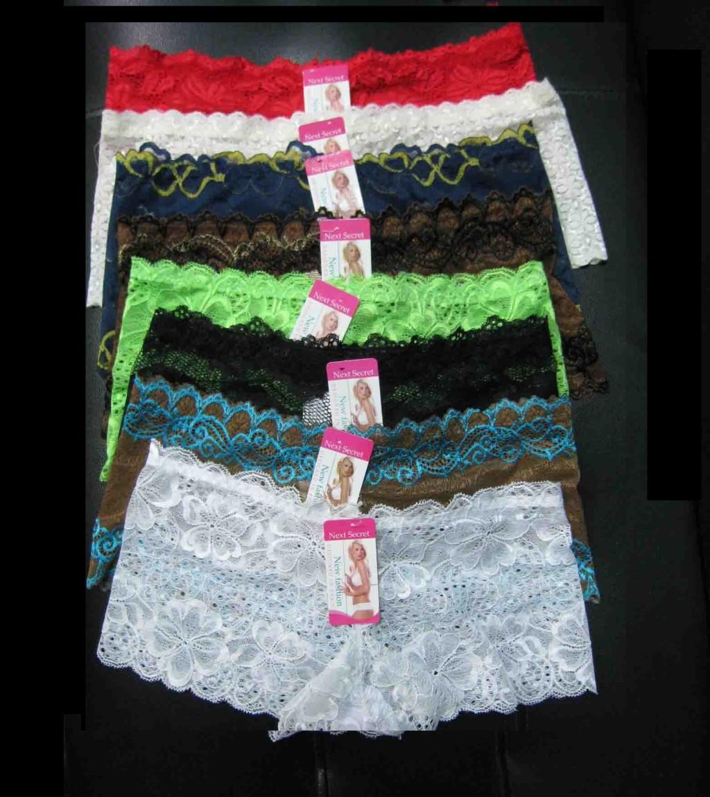 6-SEXY-SOFT-Lace-Boyshorts-Lot-L-XL-XXL-XXXL-Women-Panties-Lingerie-Underwear