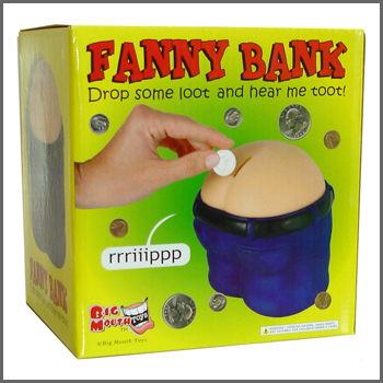 Fanny bank funny farting coin drop bank great gift gag - Farting piggy bank ...
