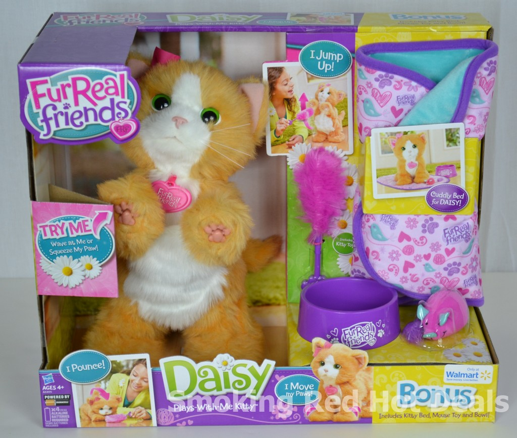 Top Furreal Friends Toys : Furreal friends daisy kitty plays with me bonus bed bowl