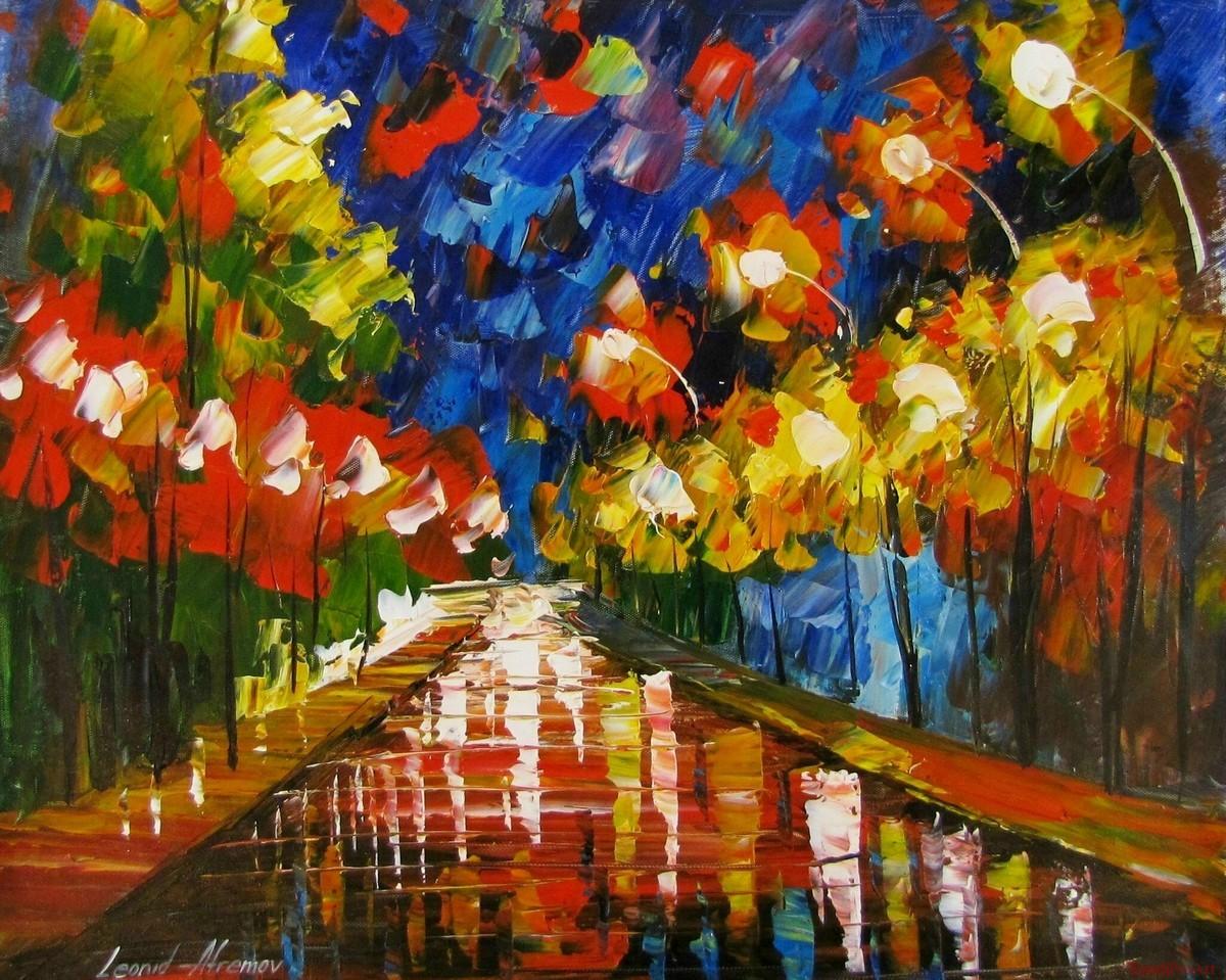 Леонид афремов цветы фото