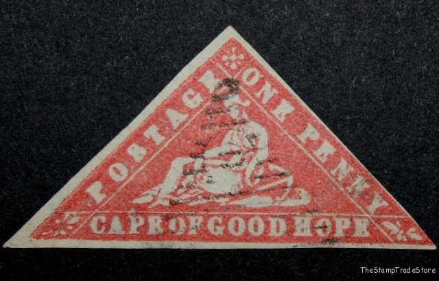 Cape of Good Hope Triangular Stamp 1d. 1861 Wood Block
