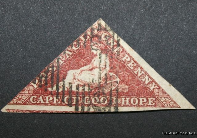 Cape of Good Hope Triangular Stamp 1d 1863-64