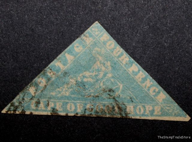 Cape of Good Hope Triangular Stamp 4d. 1861 Wood Block