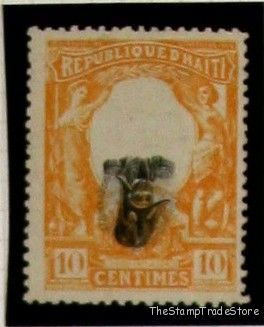 Inverted Center Stamps Haiti Scott 86v 1904